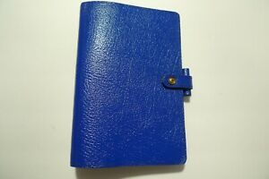 FILOFAX- LEATHER PLANNER & INSERTS- MADE IN UK- WINCHESTER 4CLF 7/8 -ROYAL BLUE