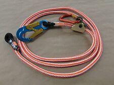 """Climb Right 1/2"""" X 12Ft Rope Lanyard Kit W/ Rope Grab & Carabiner Arborist 75743"""