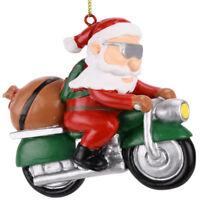 Tree Buddees Biker Santa Claus Motorcycle Christmas Tree Ornament Funny Ride