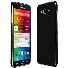 Skinomi Black Carbon Fiber Skin+Screen Protector For The Samsung Galaxy J7