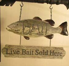 """""""FISH BAIT"""" Replacement Sign - Resin Sign for Country Arrow Holders"""