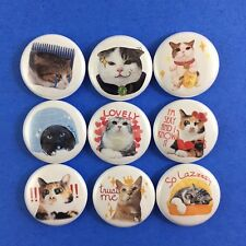 "Kingdom of Tigers 1"" Button Pin Lot Set #3 Cute Kitty Kitten Cat"