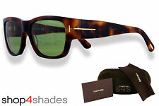 Tom Ford Stephen Unisex Sunglasses DARK HAVANA TORTE_CLASSIC GREEN FT 0493-52N