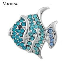 Fish Snap Charms Vocheng 18mm Interchangeable Jewelry Crystal Button Vn-223
