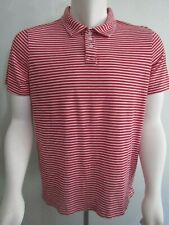 URBAN PIPELINE MENS STRIPE POLO SHIRT RED / WHITE SHORT SLEEVE SIZE L LARGE