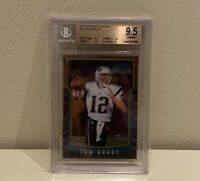 2000 Bowman Chrome Tom Brady BGS 9.5 Gem Mint Rookie Card RC Patriots Bucs