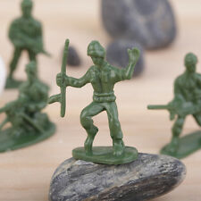 100pcs/Pack Military Plastic Toy Soldiers Army Men Figures 12 Poses Gift AX