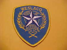 WESLACO TEXAS ISSUE POLICE PATCH SCARCE