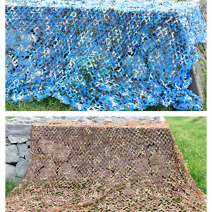Camouflage Army Green Net Netting Camping Military Hunting Woodland Leaves 2-6M
