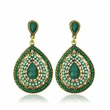 18k Gold Plated Retro Bohemian Rhinestone Drop Dangle Earrings 05852