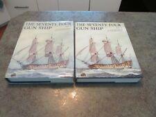 Vintage Vol 2 & 3 THE SEVENTY-FOUR GUN SHIP Hard Back Book Set Boudriot 1986-87