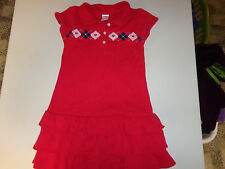 GYMBOREE NEW YORK GIRL RED POLO STYLE KNIT DRESS  GIRLS  SZ   6   EUC