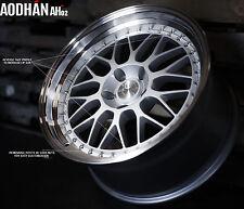 18X8.5 +35 Aodhan Ah02 5X120 Silver Wheel Fits Gto Camaro Firebird Acura Tl