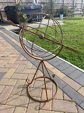 Rustic Garden Metal Sphere Sculpture Feature