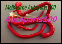 RED Silicone radiator heater hose for FORD AU FALCON 4.9L V8 INC XR8 1998-2002