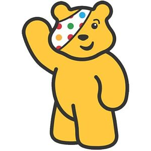 CHILDREN IN NEED WAVING PUDSEY BEAR - IRON ON TSHIRT TRANSFERS - A6 A5 A4