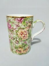 James Sadler Florence Chintz Floral Tea Cup Coffee Mug Flowers Roses Gold Trim