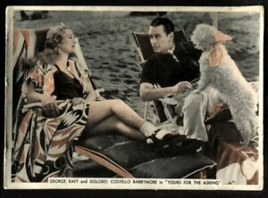 Tobacco Card,Ardath,FROM SCREEN & STAGE,1936,XL,George Raft,Dolores Costello,#46