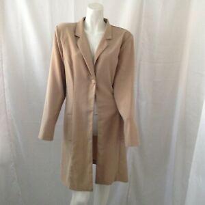 Vintage Alyn Paige Womens Nude Long Blazer Size 13 14