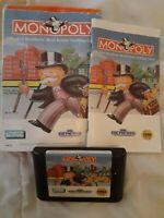Monopoly (Sega Genesis, 1992) Complete!!! ~BUY 2 GET 1 FREE~ *FREE SHIPPING*