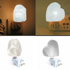 Natural Himalayan Salt Lamp Mini Air Purifier Wall Plugin Healing Bulb-Plugin UK