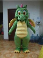 Halloween Big Green Dragon Mascot Costume Cosplay Party Dress Adult Clothing NEW