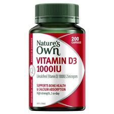 Nature's Own Vitamin D3 1000iu 200 Capsules
