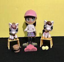 Littlest Pet Shop Blythe B4 Doll 584 Flower Eyes White Brown Swirl Horse 1616