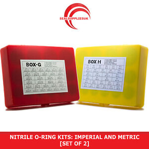Nitrile 70 O-Ring Kits: Imperial AND Metric - [SET OF 2] O Rings