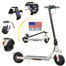 Folding Electric Scooter 300W Aluminum Portable White Adult Kick City E-Scooter