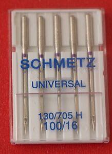 Schmetz Universal 100/16 sewing machine needles pkt of 5