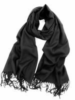 Black Pashmina Scarf 100% Viscose Plain Wrap Shawl Stole Scarf FREE 1ST CLASS