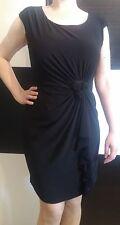 Schwarz Stretch-Kleid Cocktailkleid Abendkleid, Slim-Shape-Unterkleid Gr 46 UK20