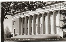 1940's RPPC Tehama County Court House in Red Bluff, CA California PC