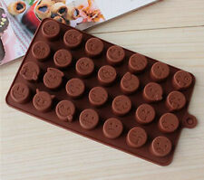 Coffee Emoji Expression Silicone Mold For Cake Chocolates Funny Candy Ice Baking