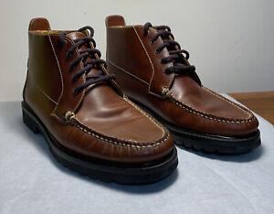 Orvis Brown Leather Ankle Boots Vibram Gumlite Soles Brogans  Mens Sz 10/969-/