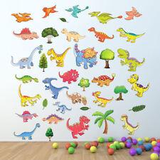 Dinosaurs Nursery Wall Stickers Kids room children Decals Cartoon gamers trees