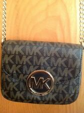Micheal Kors Purse Small Cross Body Bag Black Brown Authentic