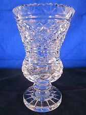 """WATERFORD CRYSTAL Vase 7"""" 1970s #242-917-59 Master Cut GOTHIC MARK"""