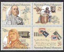 USA 1993 POST/Trasporto/mail/Treni/Piano/Cavallo/Aviazione/Museo nero 4 V (n39099)
