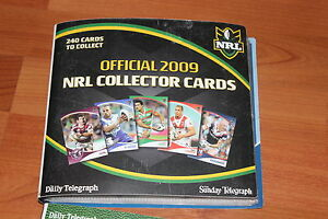 NRL COLLECTOR CARDS AND BINDER -  2009 COMPLETE SET