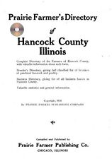 Hancock Co IL Carthage Illinois genealogy history farm directory CD