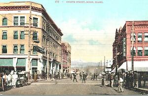 VIntage Postcard-#193, Eighth Street, Boise, ID