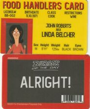 Hamburger Burger FOOD HANDLER Linda  fake I.D. card Drivers License
