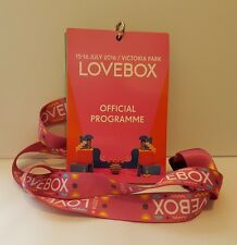 LOVEBOX Festival 2016 Official Programme And Lanyard - NEW