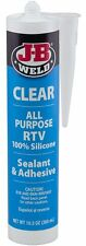 JB Weld 31910 Clear All-Purpose RTV Silicone Sealant and Adhesive - 10.3 oz