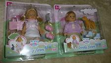 1 Stück My mini Baby Born Mädchen lovely farm Mädchen mit Hase Häschen