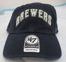 Milwaukee Brewers '47 Script Clean Up SEWN Adjustable Hat - Navy NEW w/Tags