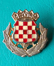 CROATIA ARMY - HV   ZNG - SOLDIER CAP BADGE FROM 1991-1995  rare type