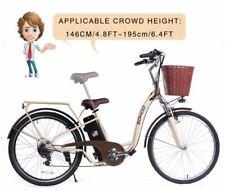 "SOHOO 36V350W10AH 26"" Electric Bicycle City E-Bike Mountain Bike (Color: Cream)"